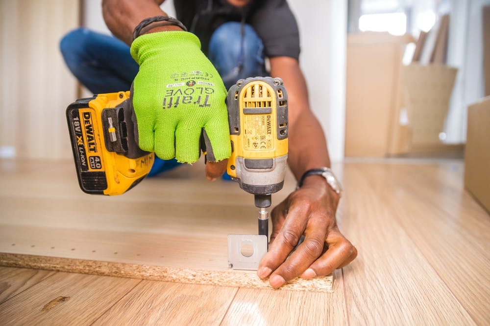 Drilling floors inside of a home