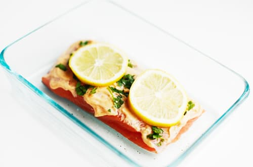 sriacha mayo salmon lemon