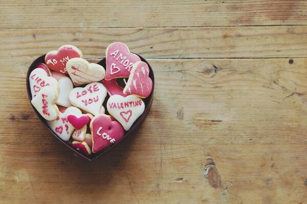 Conversation heart Valentine cookies